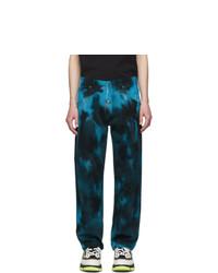 Jeans effetto tie-dye multicolori di MSGM