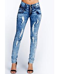 Jeans lavaggio acido blu