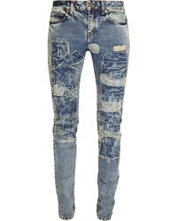 Jeans patchwork blu