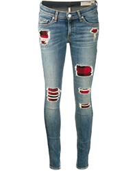 Jeans patchwork blu di Rag and Bone