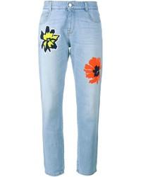 Jeans ricamati azzurri