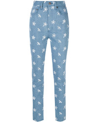 Jeans ricamati azzurri di Marc Jacobs