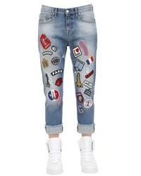Jeans ricamati blu