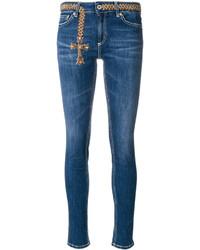Jeans ricamati blu di Dondup