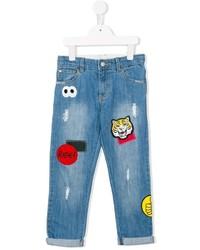 Jeans ricamati blu di Stella McCartney
