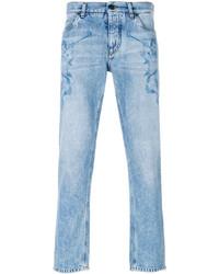 Jeans stampati azzurri