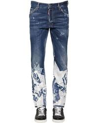 Jeans stampati blu