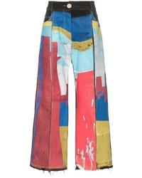 Jeans stampati multicolori di Bethany Williams