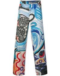Jeans stampati multicolori di Charles Jeffrey Loverboy