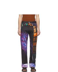 Jeans stampati multicolori di Dries Van Noten