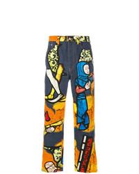 Jeans stampati multicolori di JW Anderson
