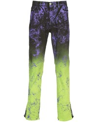 Jeans stampati multicolori di MJB Marc Jacques Burton