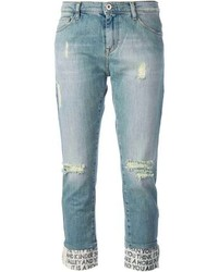 Jeans strappati azzurri