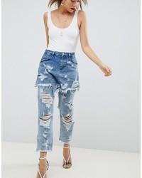 Jeans strappati azzurri di ASOS DESIGN