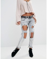 Jeans strappati azzurri di Boohoo