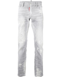 Jeans strappati bianchi di DSQUARED2