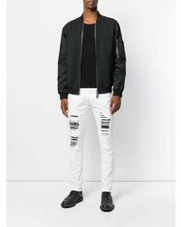 Jeans strappati bianchi di Philipp Plein