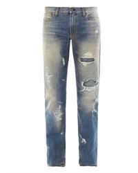 Jeans strappati blu