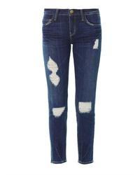 Jeans strappati blu scuro