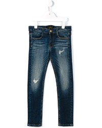 Jeans strappati blu scuro di Finger In The Nose