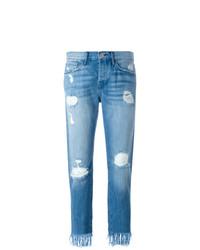 Jeans strappati blu di 3x1