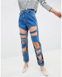 Jeans strappati blu di ASOS DESIGN
