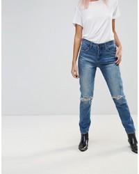 Jeans strappati blu di Blank NYC