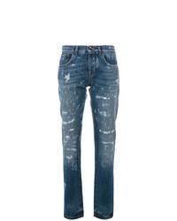 Jeans strappati blu di Dolce & Gabbana