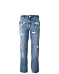 Jeans strappati blu di Ermanno Scervino