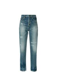Jeans strappati blu di Saint Laurent