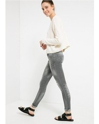 Jeans strappati grigi