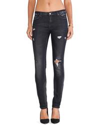 Jeans strappati grigio scuro