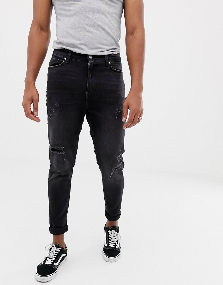 design innovativo 145c7 4e0a4 Jeans strappati neri di Bershka