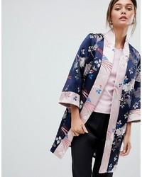 Kimono a fiori blu scuro di Ted Baker