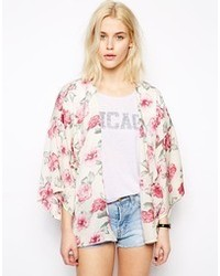 Kimono a fiori rosa