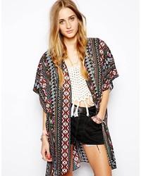 Kimono geometrico multicolore