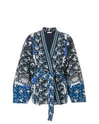 Kimono stampato blu scuro