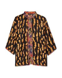 Kimono stampato nero di Etro