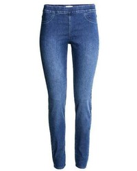 Leggings di jeans blu