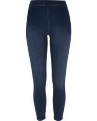 Leggings di jeans blu scuro