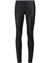 Leggings in pelle neri di Anine Bing