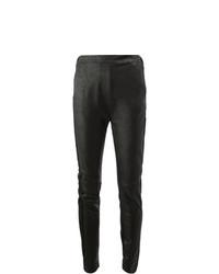 Leggings in pelle neri di Ilaria Nistri