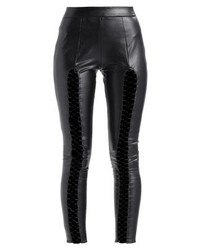Leggings in pelle neri di Missguided