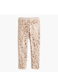 Leggings leopardati marrone chiaro
