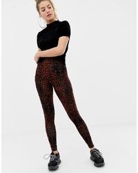 Leggings leopardati marrone scuro di ASOS DESIGN