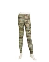 Leggings mimetici verde scuro