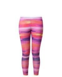 Leggings stampati rosa