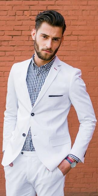 Look alla moda per uomo  Abito bianco ae813a819cf