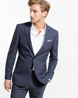 006ec11fde61 ... Look alla moda per uomo  Abito blu scuro
