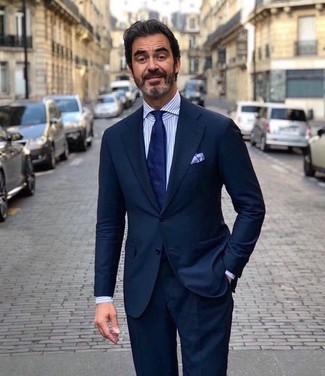 1525c04e3e Quale cravatta indossare con un abito blu scuro (321 foto) | Moda ...